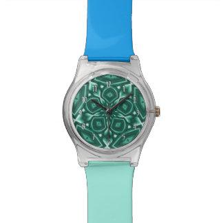 Flor psicodélica (trullo) relojes de mano