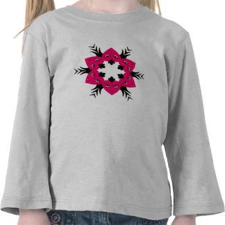 Flor punky linda de los corazones del vampiro para camisetas