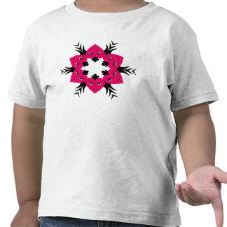 Flor punky linda de los corazones del vampiro para camiseta