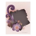 Flor púrpura 2 postal