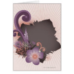 Flor púrpura 2 tarjeta