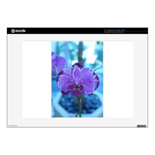 Flor púrpura 38,1cm portátil calcomanía