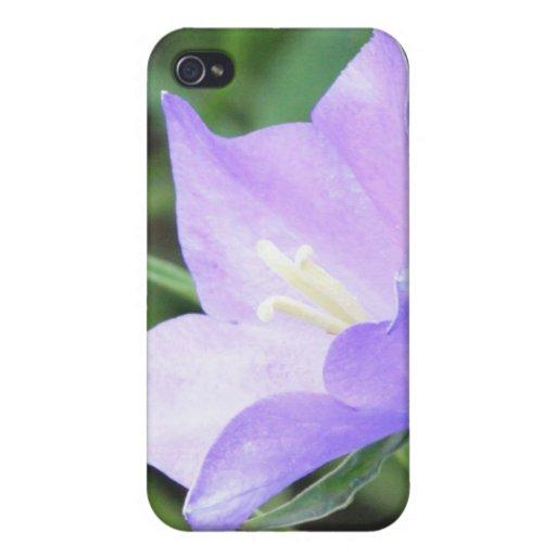 Flor púrpura 4/4s iPhone 4 fundas