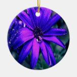 Flor púrpura adornos de navidad