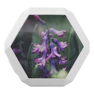 Flor púrpura altavoces bluetooth blancos boombot REX