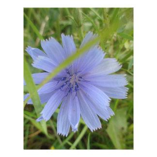 Flor púrpura azul dulce membrete