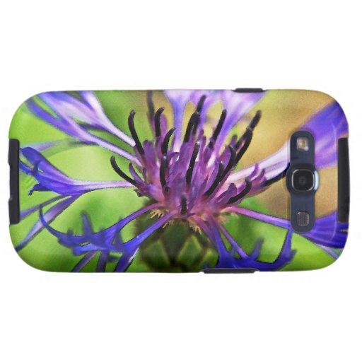 Flor púrpura azul galaxy s3 cobertura