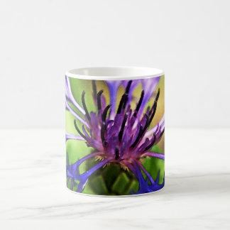 Flor púrpura azul taza