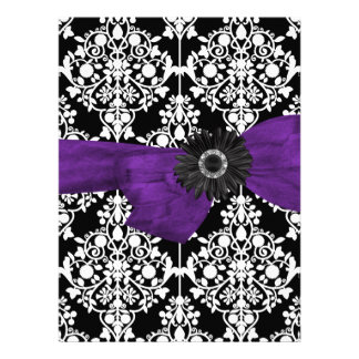 Flor púrpura blanca negra del damasco 16 del dulce comunicados