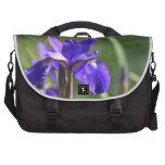 Flor púrpura bolsa para ordenador