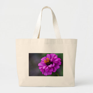 Flor púrpura bolsa tela grande