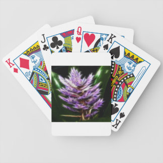 Flor púrpura brillante del fractal baraja de cartas