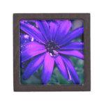 Flor púrpura cajas de joyas de calidad