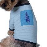 Flor púrpura camiseta de perro