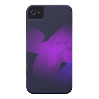 Flor púrpura carcasa para iPhone 4 de Case-Mate