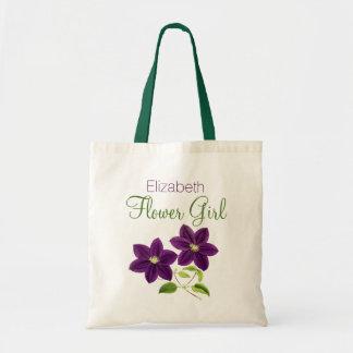 Flor púrpura con el florista conocido bolsa tela barata
