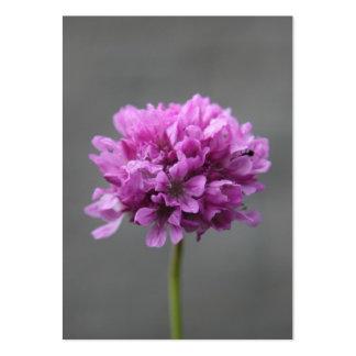 flor púrpura con la hormiga tarjetas de visita grandes