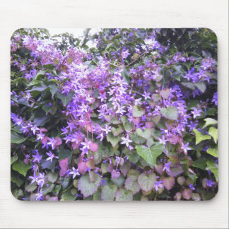 Flor púrpura/de color de malva Mousepad