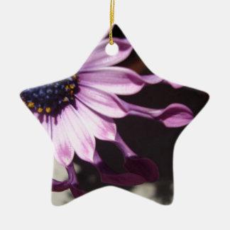 Flor púrpura de la cuchara adorno navideño de cerámica en forma de estrella