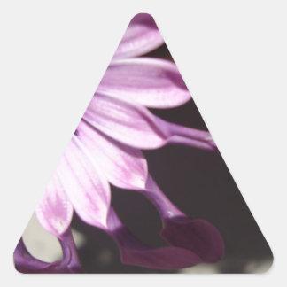 Flor púrpura de la cuchara pegatina triangular