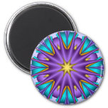 Flor púrpura de la estrella del imán decorativo ar