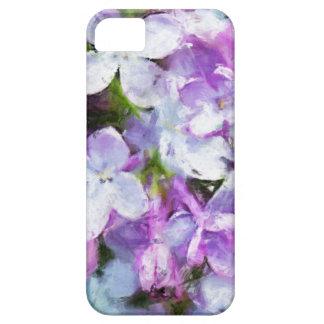 Flor púrpura de la lila que pinta iPhone5 Funda Para iPhone 5 Barely There