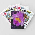 Flor púrpura de la orquídea baraja cartas de poker
