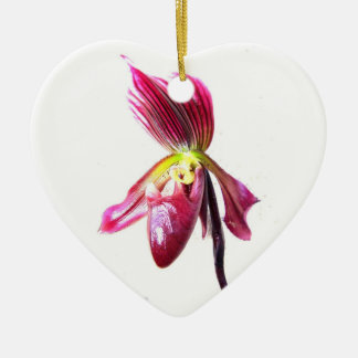 Flor púrpura de la orquídea de deslizador contra l ornamento de reyes magos
