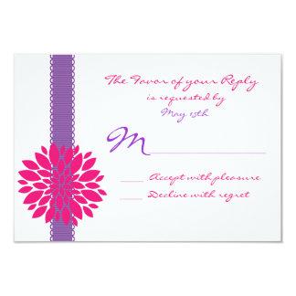 Flor púrpura de las rosas fuertes que casa invitación 8,9 x 12,7 cm