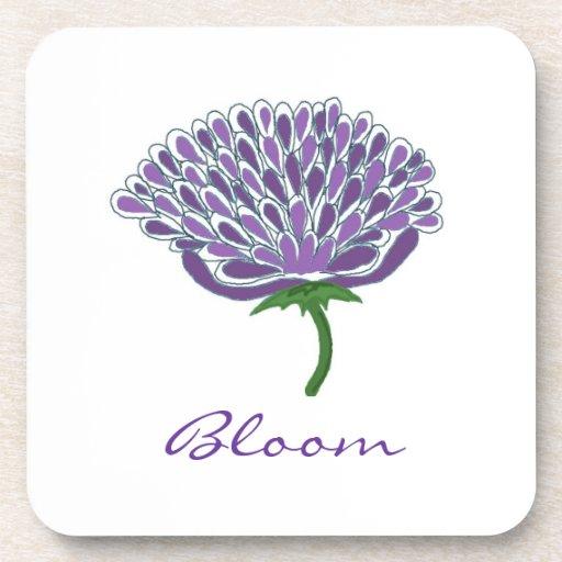 Flor púrpura de moda posavasos de bebida