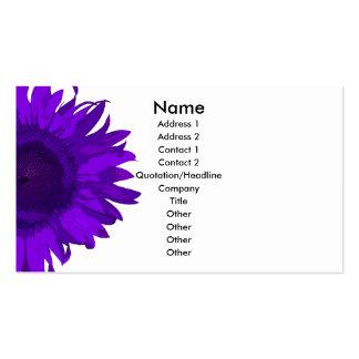 Flor púrpura del arte pop tarjeta de visita