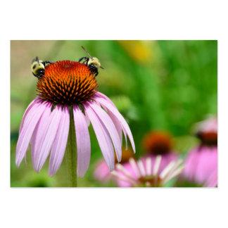 Flor púrpura del cono tarjetas de visita grandes