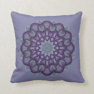 Flor púrpura del Gota-work Almohada