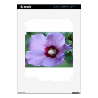 Flor púrpura del hibisco iPad 3 pegatinas skins