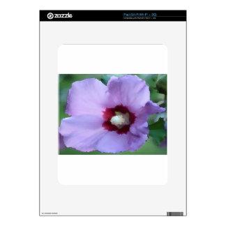 Flor púrpura del hibisco iPad calcomanía