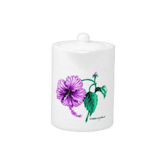 Flor púrpura del hibisco