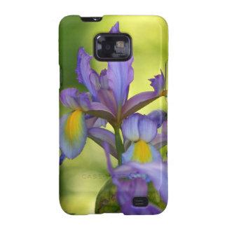 Flor púrpura del iris samsung galaxy s2 carcasas