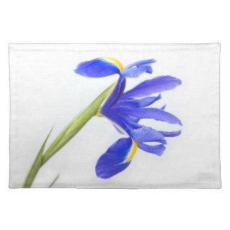 Flor púrpura del iris mantel individual