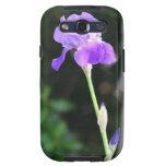 Flor púrpura del iris samsung galaxy s3 cárcasa