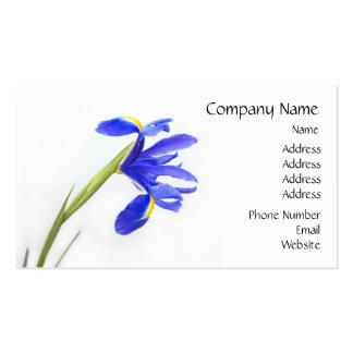 Flor púrpura del iris tarjetas de visita