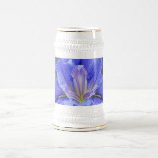 Flor púrpura del iris tazas