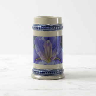 Flor púrpura del iris taza de café