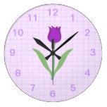 Flor púrpura del tulipán relojes