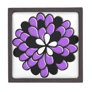 Flor púrpura del vitral de la lavanda cajas de regalo de calidad