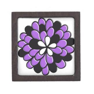 Flor púrpura del vitral de la lavanda caja de recuerdo de calidad