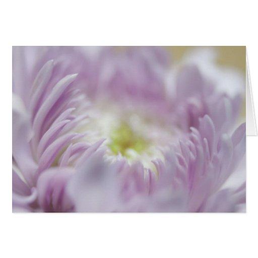 Flor púrpura en colores pastel felicitaciones