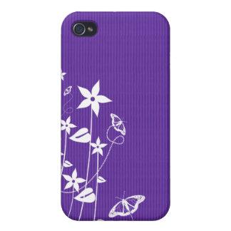 Flor púrpura femenina - caso del iPhone 4 iPhone 4 Protectores