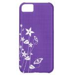 Flor púrpura femenina - caso del iPhone 5