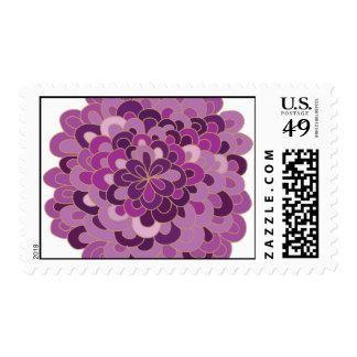 Flor púrpura floreciente envio