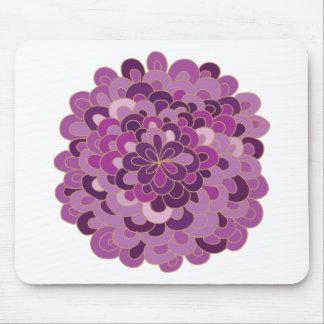 Flor púrpura floreciente Mousepad Tapetes De Raton